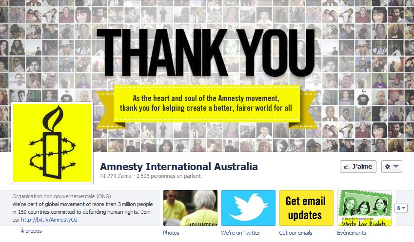 couverture facebook Amnesty International