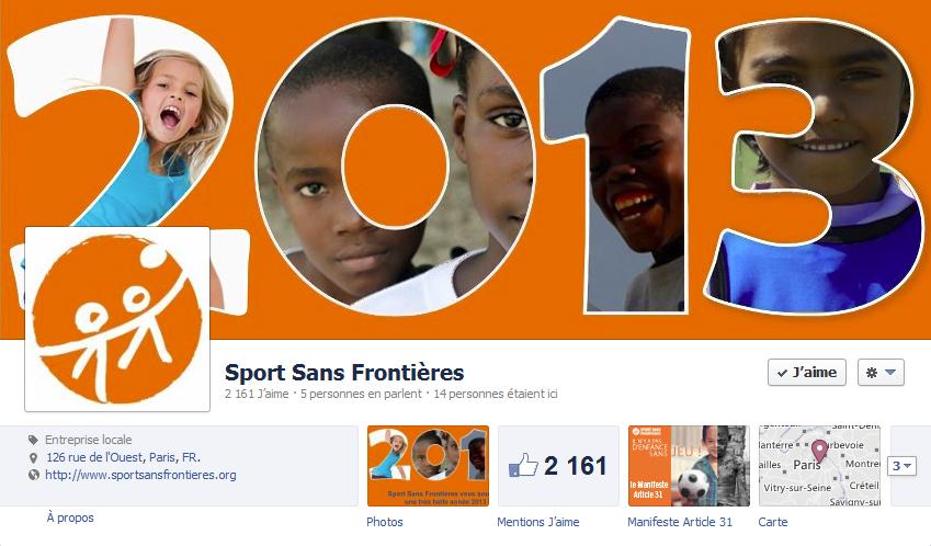 couverture facebook sport sans frontières