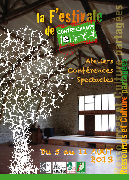 Contrechamps affiche festival 2013 Festivals août 2013 : 5 exemples daffiches associatives