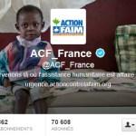 Couverture et Bio Twitter d'ACF