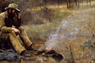 """""""Down on His Luck"""" (1889) by Frederick McCubbin"""