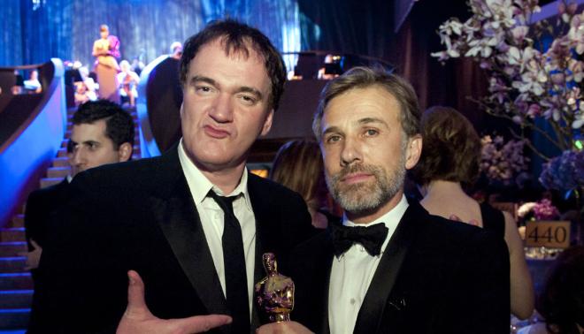 Quentin Tarantino et Christoph Waltz