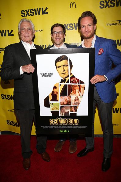 George Lazenby, le réalisateur Josh Greenbaum et Josh Lawson (jeune George Lazenby).
