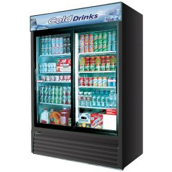 Small Crop Of Glass Front Refrigerator
