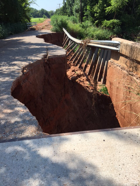 Seward Road Bridge road collapse