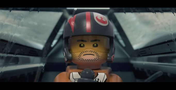 Poe in his X-Wing