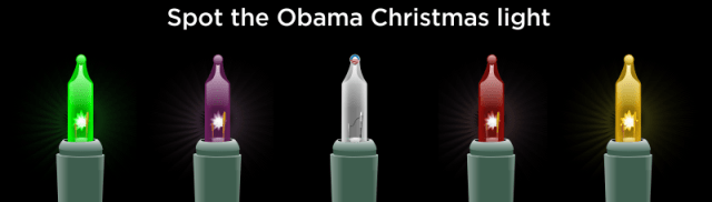 Spot The Obama Christmas Light