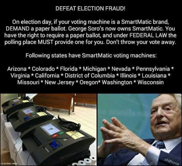 Defeat Election Fraud. Ask for a paper ballot. SmartMatic