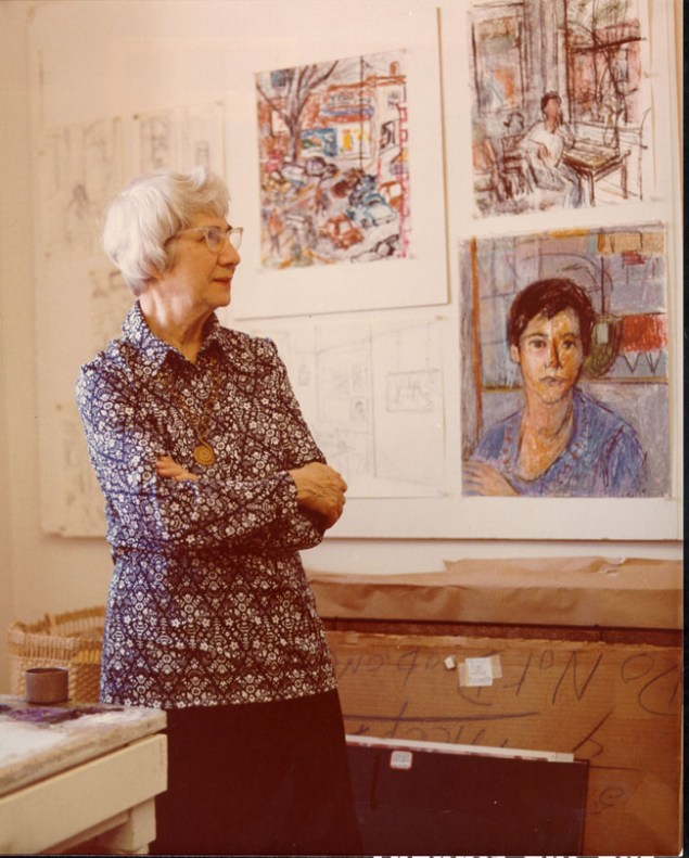 Theresa Pollak started fine art classes at the Richmond Professionals Institute, which would later become the VCU School of the Arts. Photo courtesy of VCU Libraries.