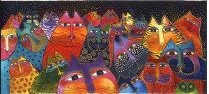 """Rainbow Cats"", Laurel Burch"