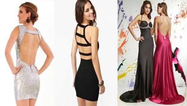 Modas de vestidos con escotes 2015