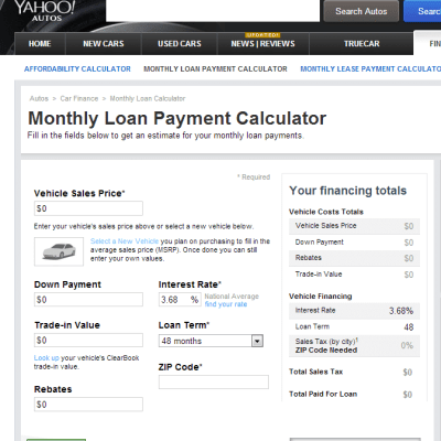 Using a Car Loan Calculator to Select an Auto Loan - Complete Auto Loans