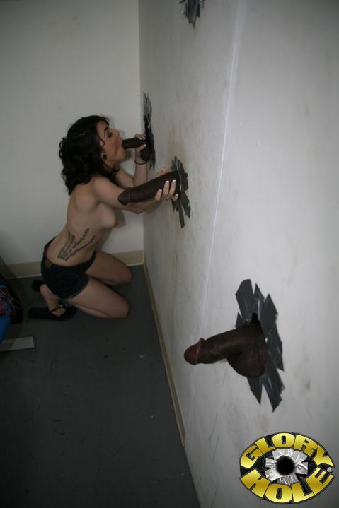 Tegan Tate Gloryhole Big Cock Pornstar Very Horny Blowjob