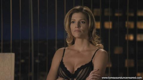 Tricia Helfer Nude Sexy Scene Office Hat Panties Bra Actress