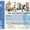 walt-disney-company-stock certificate