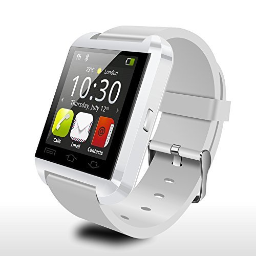 Fly-shop-U8-Bluetooth-30-Elegante-reloj-tctil-reloj-de-pulsera-de-pantalla-para-Android-IOS-Iphone-Samsung-Galaxy-HTC-Blanco-0-0
