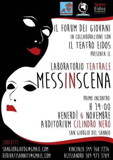 30 ottobre e 6 novembre – Primo laboratorio teatrale comunale