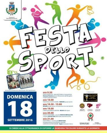 Festa dello Sport 18 settembre 2016
