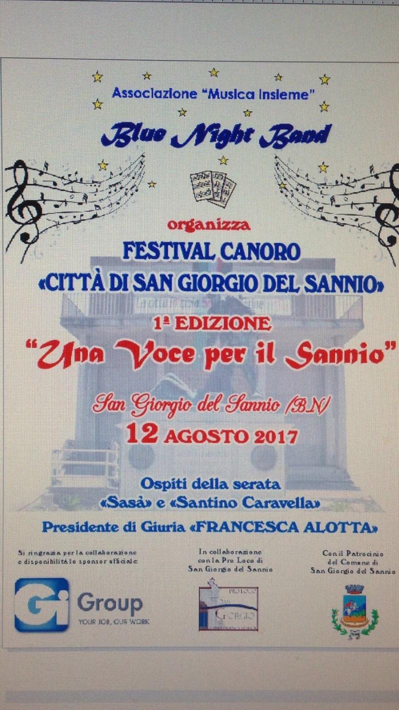 """Festival canoro """"Città di San Giorgio del Sannio"""""""