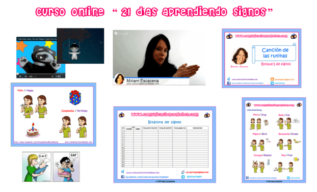 Contenido curso online signos para bebés