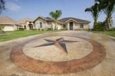 Acid stain driveway