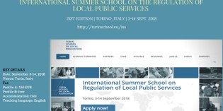 International Summer School on the Regulation of Local Public Services. Torino, Italy