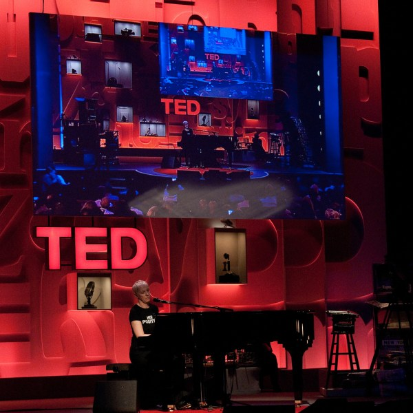 Annie Lennox performing at TED Global 2010