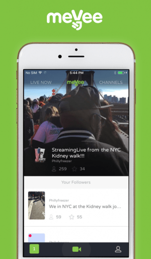 MeVee is the newest innovation in live streaming, the app launches today (January 3rd!) and is the perfect vlogging platform!