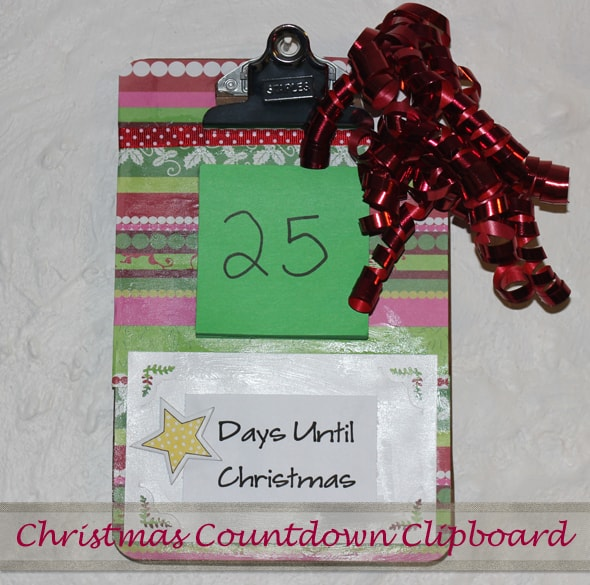 Easy Christmas Craft Idea - Christmas Countdown Clipboard