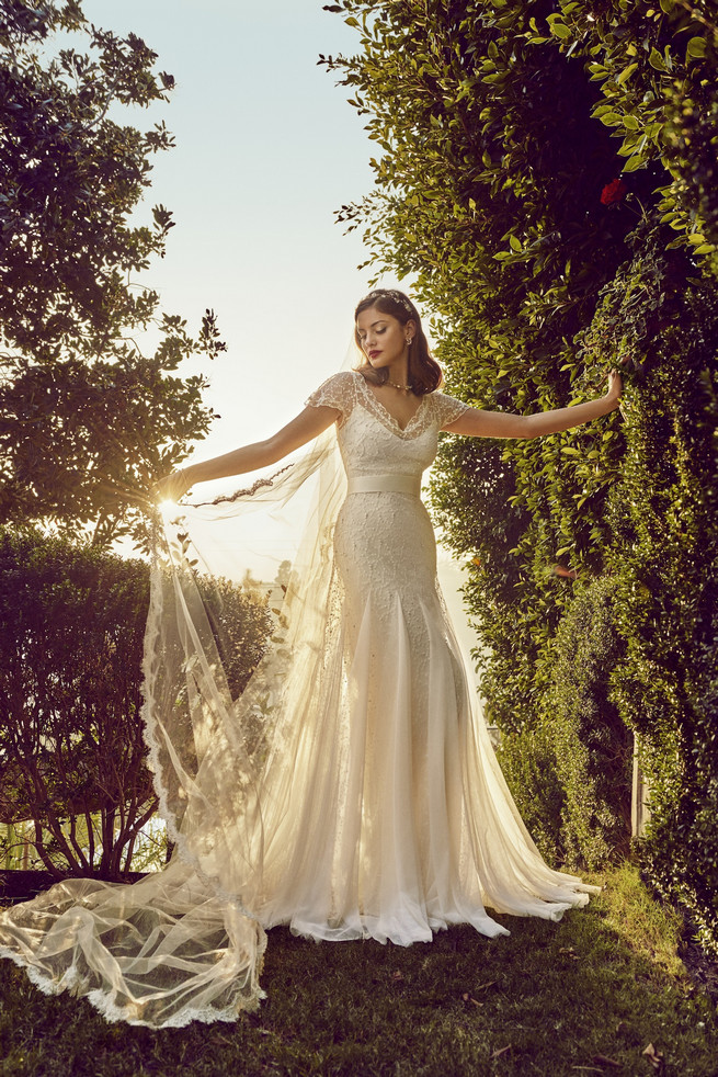 Old hollywood glam style wedding dresses from bhldn for Old hollywood wedding dress