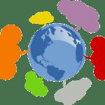 world w speech bubbles