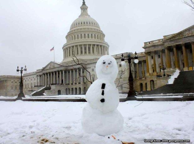 Capitol snowman