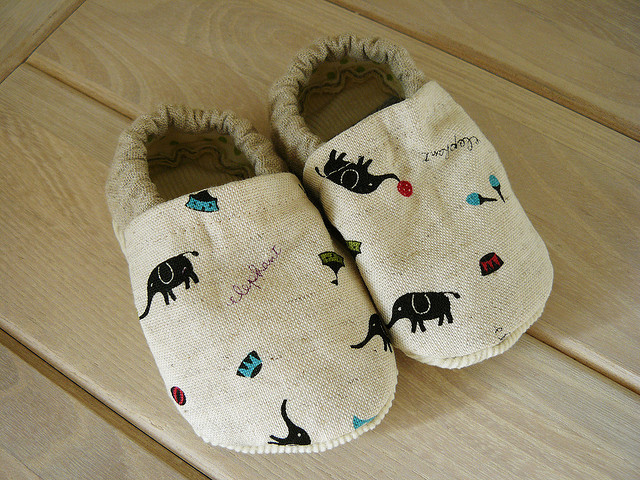 Circus Elephant Baby Shoes