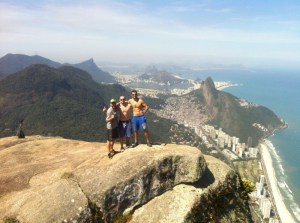 At the top of Pedra da Gavea, easily accessed from Connection Rio