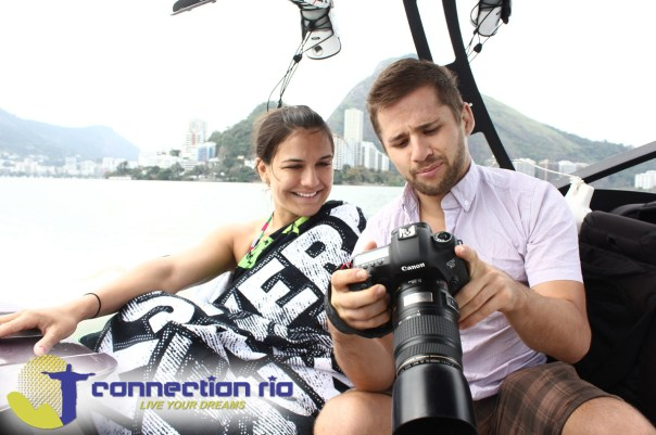 William and Kyra Gracie at Lagoa Rodrigo de Freitas