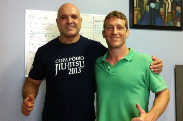 Dennis Asche with Copa Podio founder Jefferson Mayca