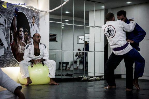 Gordo overseeing training at his academy in Rio de Janeiro