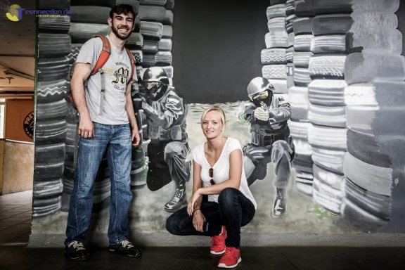 Torryn with girlfriend Nicole inside BOPE HQ