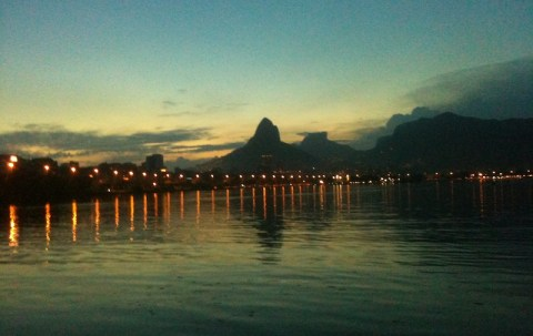 One of Peter's shots, looking out over Lagoa at sunset