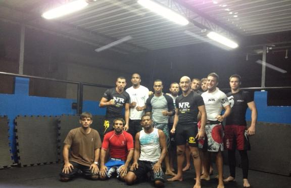Torryn, the French luta livre guys and Edson Diniz at the new ATT gym in Barra