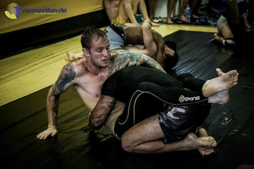 Jack Magee, MMA fighter and BJJ brown belt training no-gi BJJ in Rio de Janeiro with Connection Rio