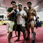 Pequeno with his team of MMA fighters from the North East of Brazil