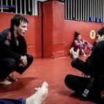 Michael training BJJ with Rico Vieira at Checkmat Copacabana