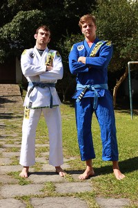 Sean (right) in his Senki kimonos