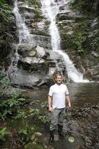 Dennis at a waterfall just outside Rio