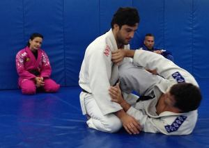 Kyra watching cousin Gregor at the Renzo Gracie Academy in NYC