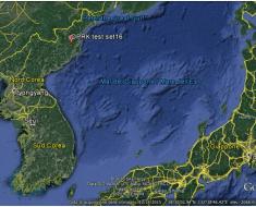 Figura 2: localizzazione del poligono nucleare nordcoreano