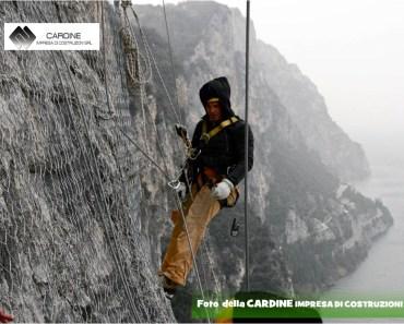 CARDINE COSTRUZIONI SRL, lavori di consolidamento di costoni rocciosi eseguiti in ''Costiera Amalfitana'