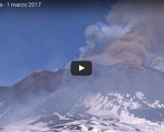 eruzione etna 28 feb 2017