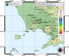 mappa che riportata la distribuzione degli effetti del terremoto sul territorio, espressi in termini di intensità in scala MCS (Mercalli-Cancani-Sieberg), DA INGV